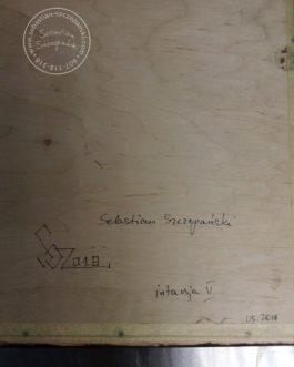 "Intarsja ""Goździki"" 42×44 cm"