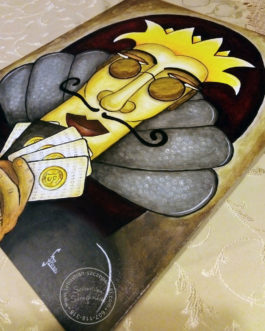 "Obraz akrylowy ""Król pokera"" 50×40 cm"