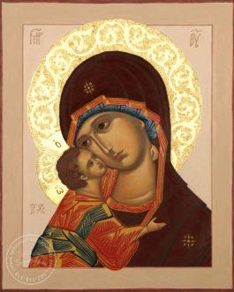 Ikona Matka Boska Włodzimierska 25×30 cm