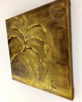 """Obraz akrylowy strukturalny """"Złote Drzewo"""" 25×25 cm"""