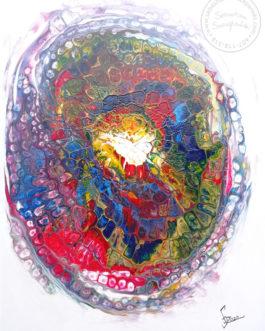 """Obraz akrylowy wylewany """"Mind Map"""" 60×80 cm"""