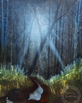 "Obraz olejny ""Magiczny las"" 60×80 cm"